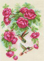 """Вышивка крестом """"Розы и колибри"""""""