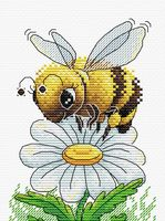 "Вышивка крестом ""Трудолюбивая пчелка"" (160х120 мм)"