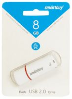 USB Flash Drive 8Gb SmartBuy Crown (White)