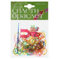 """Набор для плетения из резиночек """"Прозрачные с блестками"""" (150 шт.)"""
