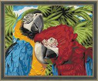 "Картина по номерам ""Пара попугаев"" (400х500 мм)"