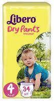 "Подгузники-трусики ""Libero. Dry Pants 4"" (7-11 кг; 34 шт.)"