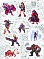 """Набор виниловых наклеек №168 """"Final Fantasy"""""""