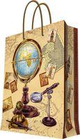 """Пакет бумажный подарочный """"Глобус"""" (17,8х22,9х9,8 см; арт. 44171)"""