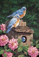 """Картина по номерам """"Синие птички в саду"""" (410x510мм; арт. 91401-DMS)"""