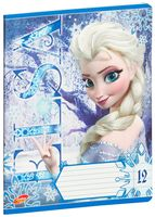"""Тетрадь в линейку """"Frozen"""" (12 листов)"""