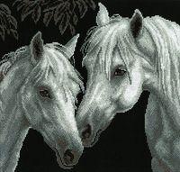 """Вышивка крестом """"Белые кони"""""""