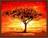 """Картина по номерам """"Африканский закат"""" (400х500 мм)"""