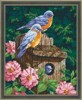 """Картина по номерам """"Домик для птиц"""" (400х500 мм)"""