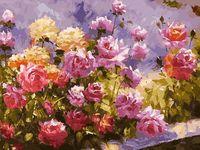 """Картина по номерам """"Букет роз"""" (300х400 мм)"""