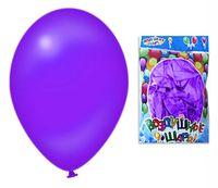 Набор шариков резиновых надувных (фиолетовый; 100 шт.)