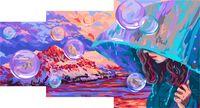"Картина по номерам ""Дождь на Марсе"" (200х300 мм; 300х400 мм; 400х500 мм)"