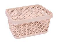 "Ящик для хранения с крышкой ""Пирула"" (12,5х26,7х18,3 см; латте)"