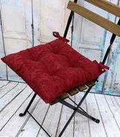 """Подушка на стул """"Velours. Burgundy"""" (42х42 см)"""
