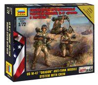 """Набор миниатюр """"Американский противотанковый ракетный комплекс М-47 """"Дракон"""" с расчетом"""" (масштаб: 1/72)"""