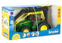 """Модель машины """"Трактор John Deere 7930 лесной с манипулятором"""" (масштаб: 1/16)"""
