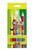 Цветные карандаши школьные (24 цвета)