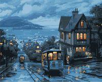 "Картина по номерам ""Ночной трамвай"" (400х500 мм)"