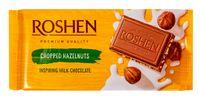 """Шоколад молочный """"Roshen"""" (90 г; с дроблеными лесными орехами)"""