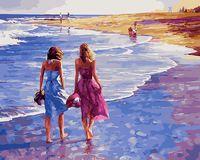"""Картина по номерам """"Прогулка по пляжу"""" (400х500 мм)"""