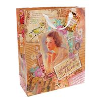"Пакет бумажный подарочный ""Любимой маме"" (32х44,5х10 см; арт. 10320953)"