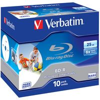 Диск BD-R DL 50Gb 6x Verbatim Jewel Case 10