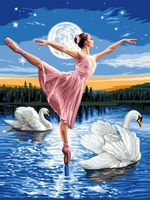 "Картина по номерам ""Лебединое озеро"" (400х500 мм; арт. PC4050069)"