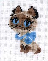 "Вышивка крестом ""Котёнок"" (130х160 мм)"