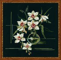 "Вышивка крестом ""Орхидеи"" (400х400 мм)"