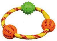 """Игрушка для собаки """"Кольцо с шариками"""" (20 см)"""