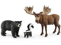 """Набор фигурок """"Обитатели лесов Северной Америки"""""""
