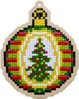 """Алмазная вышивка-мозаика """"Брелок. Рождественский шар"""" (91х113 мм)"""