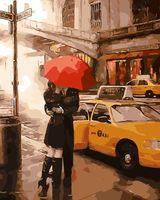 """Картина по номерам """"Влюбленные под зонтом"""" (400х500 мм)"""