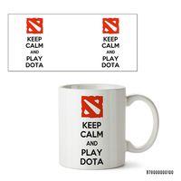 """Кружка """"Дота 2. Keep Calm and Play Dota"""" (арт. 100)"""