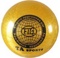 Мяч для художественной гимнастики RGB-102 (15 см; жёлтый с блёстками)