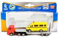 """Игровой набор """"КамАЗ автотранспортер с ГАЗелью"""" (арт. SB-17-28WB)"""