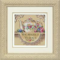 """Вышивка крестом """"Кружевной чайничек"""" (арт. DMS-06904)"""