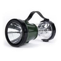 Аккумуляторный кемпинговый фонарь 2 в 1 1W+17LED (зеленый)
