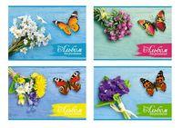 """Альбом для рисования """"Букет с бабочкой"""" (A4, 32 листа)"""