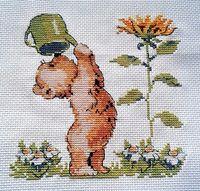 "Вышивка крестом ""Медвежонок"" (150х150 мм)"