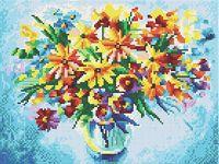 """Алмазная вышивка-мозаика """"Разноцветные ромашки"""" (300х400 мм)"""
