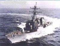 "Эсминец ""Aegis Destroyer U.S.S. Arleigh Burke"" (масштаб: 1/700)"