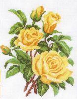 """Вышивка крестом """"Желтые розы"""""""