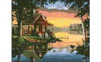 """Картина по номерам """"Дом у озера"""" (400x500 мм)"""