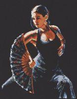 """Вышивка крестом """"Фламенко"""" (240x300 мм)"""