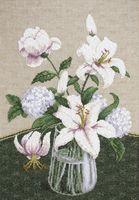 "Вышивка крестом ""Таинство белых цветов"" (220х500 мм)"