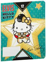 "Тетрадь в линейку ""Hello Kitty Elvis"" (12 листов)"