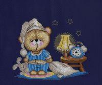 """Вышивка крестом """"Мишка-соня"""""""