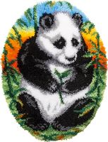 """Вышивка в ковровой технике """"Коврик. Панда"""" (520х680 мм)"""