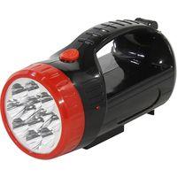 Аккумуляторный фонарь-прожектор 2 в 1 12+9 LED (черный)